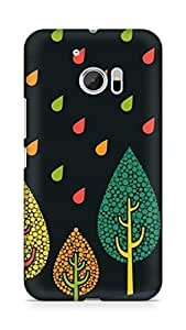 Amez designer printed 3d premium high quality back case cover for Htc One M10 (dots rain drops )