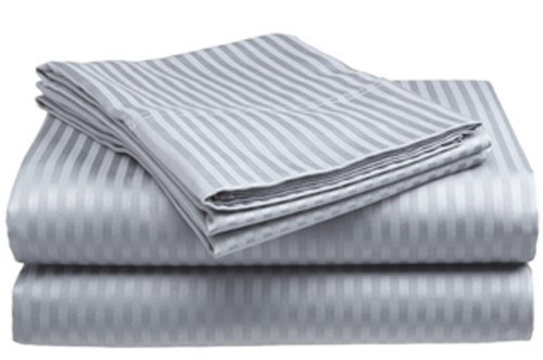 Twin Size Silver Sateen Sheet Set