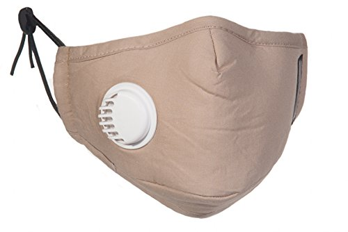 PM25-Beige-Allergy-Mask-with-Exhale-Valve-4-N99-Filter-Set-Available-in-Black-Navy-Beige-Grey-and-Pink