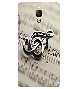 Back Cover for Xiaomi Mi4 Music Logo