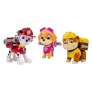 Nickelodeon, Paw Patrol - Action Pack Pups 3pk Figure Set Marshal, Skye, Rubble by Paw Patrol