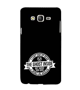 EPICCASE black ghost Mobile Back Case Cover For Samsung Galaxy E5 (Designer Case)