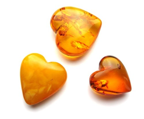 Baltic Amber Heart Shaped Gemstones Collection