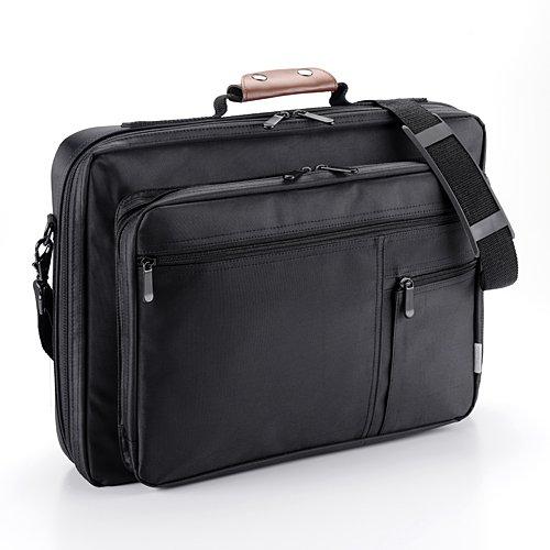 サンワダイレクト PCバッグ ノートパソコン 15.6インチ まで対応 軽量 ショルダーベルト付 ビジネスバッグ 200-BAG060