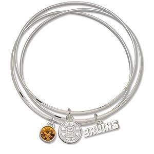 NHL Boston Bruins Triple Bangle Bracelet