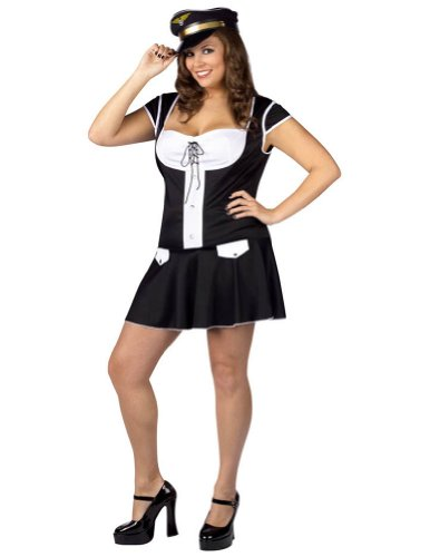 Adult-Costume Captain Layover Plus 16-24 Halloween Costume - Adult 16-24