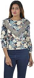 Sahiba Fashions Women's Long Sleeve Top (Blue)