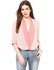 Pink White Summer Jacket By Magnetic Designs