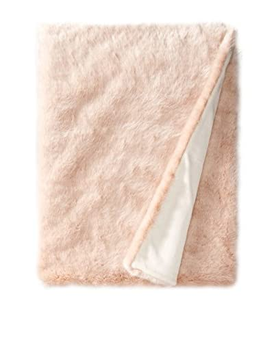 Fabulous Furs Limited Edition Faux Fur Throw, Blush Mink