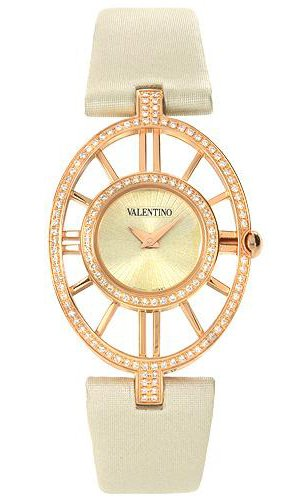 Valentino Vanity Rose Gold Plated Steel & Diamond Womens Fashion Strap Watch V42SBQ5103-FS601