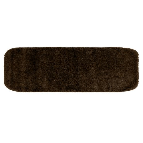 Garland Rug Traditional Plush Washable Nylon Rug, 22-Inch By 60-Inch, Chocolate front-770366