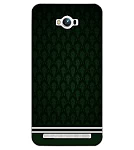 PrintDhaba GREEN PATTERN D-6357 Back Case Cover for ASUS ZENFONE MAX ZC550KL (2016) (Multi-Coloured)