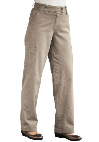 Plus Size Seamed Twill Pants