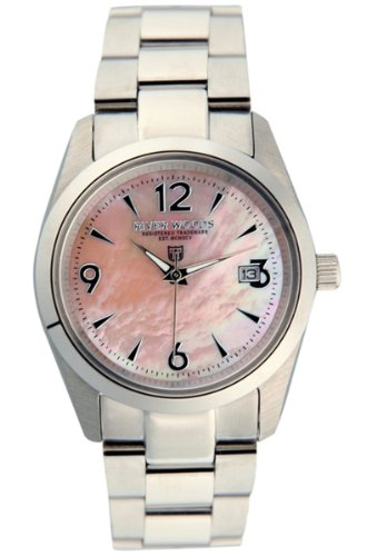 River Woods Women's RW 3 L PPD SS  Pink mother-of-pearl Watch