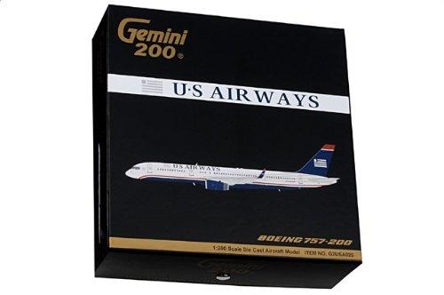 1:200 ジェミニジェット ジェミニジェット 200 G2USA025 ボーイング 757-200 ダイキャスト モデル US 航空, N204UW 並行輸入品
