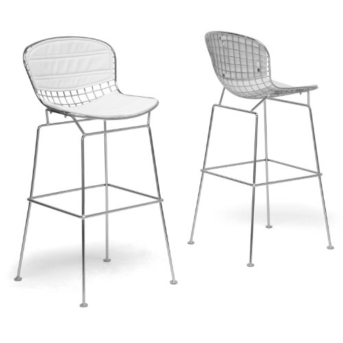 Super Buy Baxton Studio Tolland Modern Bar Stool With White Squirreltailoven Fun Painted Chair Ideas Images Squirreltailovenorg