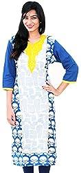 SAIFASHIONS Women's Cotton Kurta (SAIFAS-900, BLUE, XX-Large)