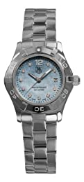 TAG Heuer Women s WAF1419 BA0824 Aquaracer Quartz Blue Mother-of-Pearl Dial Watch