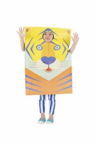 かぶるかみぶくろ アニマル トラ コドモ用 キッズコスチューム 男女共用 120cm