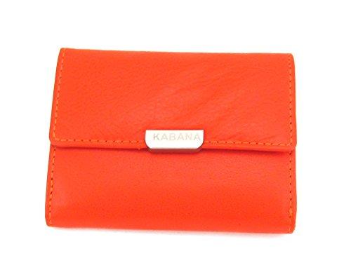 Dalla pelle portafoglio pratico e piccoli estate Party portafoglio arancione
