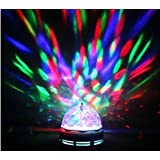 LED Full colour Crystal Auto Rotating Disco DJ Stage Light Bulb with B22 Bayonet Cap - By Playlearn