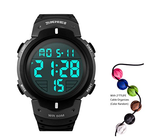 hukoer-outdoors-unisex-led-digital-multifunction-sport-watch-water-resistant-silver