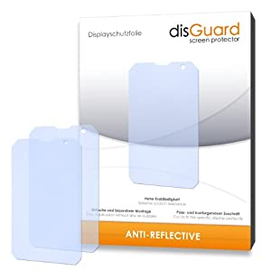 3 x disGuard Anti-Reflective Screen Protector for Caterpillar Cat B15 / B-15 - PREMIUM QUALITY (non-reflecting, hard-coated, bubble free application)