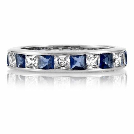 Stella's Silver CZ Cubic Zirconia Eternity Band Ring