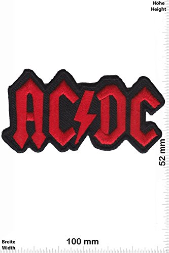 Patch - AC DC - ACDC - red - MusicPatch - Rock - Chaleco - toppa - applicazione - Ricamato termo-adesivo - Give Away