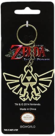 Nintendo Zelda Mens Black Keychain