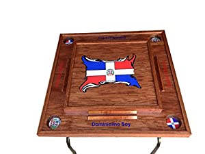 Amazon.com : Domino Table with Dominican Republic 3d Flag