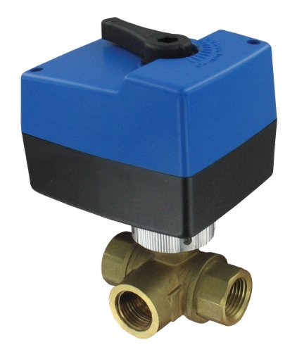 "W.E. Anderson® Three-Way Detachable Electric Ball Valve, 3Hbav0324, 3/4"" Npt, 24 Vac, Modulating"