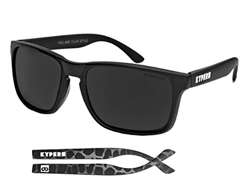 KYPERS, Coconut - Gafas de sol, color rubber black grey no mirror, talla 57-18-140