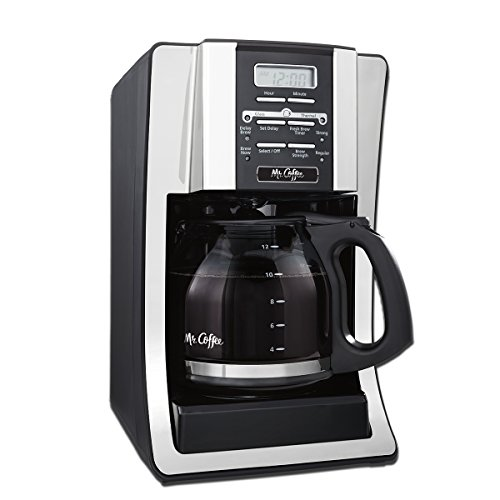 Mr. Coffee BVMC-SJX33GT-AM 12-Cup Programmable Coffee Maker with Thermal Carafe Option, Chrome, FFP Packaging (Coffee Pot Programmable 12 Cup compare prices)