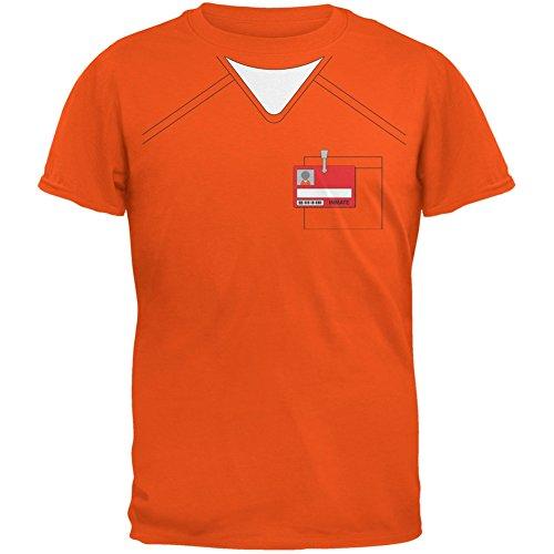 Prisoner Uniform Costume Orange Adult T-Shirt - 2X-Large
