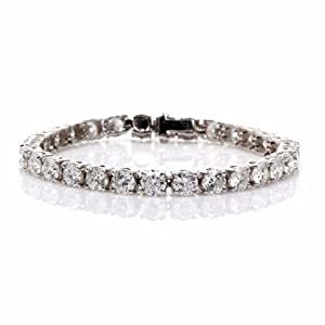 Estate 16.00ct Diamond Platinum Tennis Bracelet