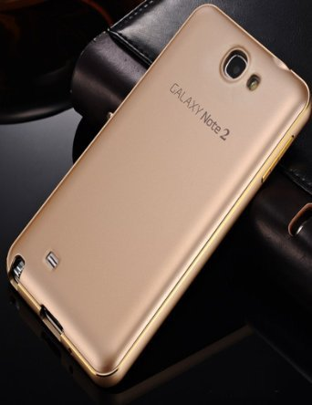 Galaxy Note 2 Case,Samsung Note 2 Case,TIANLI(TM)Aluminum Metal Bumper Frame Hard Case Cover Shell For Samsung Galaxy Note 2 II N7100+[Screen Protector]+[Free Stylus]+[Cleaning Cloth],Tuhao Gold (Galaxy Ii Case compare prices)