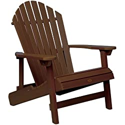 Highwood King Hamilton Folding and Reclining Adirondack Chair, Weathered Acorn
