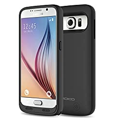 S6 Battery Charger Case - MoKo 3500mAh Protective Extended Charging Case with Removable / Rechargeable Power Cover for Samsung Galaxy s6 5.1 Inch, BLACK(NOT Fit Samsung Galaxy S6 Edge / Active)