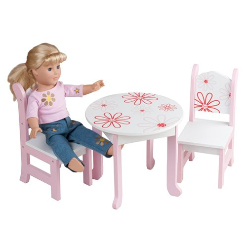 Doll Furniture American Girl Floral Table Chairs Boutique