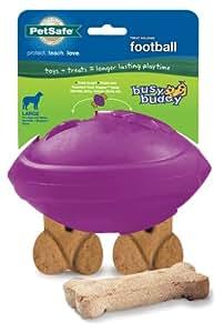 PetSafe Busy Buddy Football Dog Toy, Large Purple