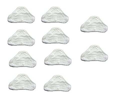 Shp-Zone 10 Pack Replacement Pads Compatible With H2O H20 Steam Mop X5 Model Only front-552626