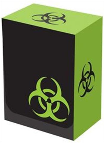 Legion Iconic Black/Green Bio-Hazard Deck Box (Holds 100 Sleeved Magic/MTG/Pokemon/YuGiOh Cards) - 1