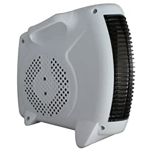 GrandGadgets 2000w Fan Heater with 2 Heat Settings with Flat and Upright Placement