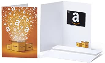 Amazon.com $10 Gift Card in a Greeting Card (Amazon Surprise Box Card Design)
