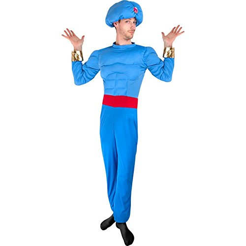 Adult Blue Muscle Genie Costume Size: Standard