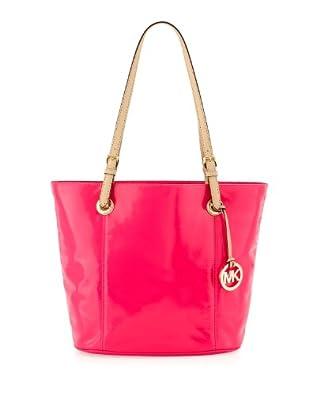 Michael Kors Jet Set Item LG Tote Neon Pink Patent Leather #0: 41uEJS2xoeL SY395