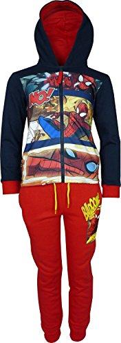 Bambini e ragazzi Marvel Spiderman Tuta da ginnastica / Jogging Set Blu Marino / Rosso-6 Anni / 116 cm