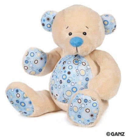 Blueberry Rattle Baby Teddy Bear