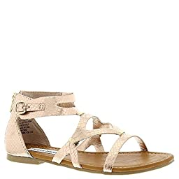 Steve Madden Jcommly Sandal (Little Kid/Big Kid), Rose Gold, 4 M US Big Kid